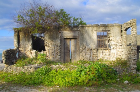 ruins of an old building by the sea in Jambiani